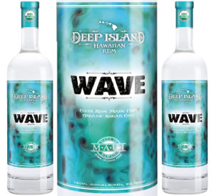 From Maui, Deep Island's Wave Organic Rum is produced by Hawaii Sea Spirits from local sugar cane.