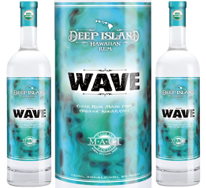 From Maui, this new organic white rum -- Wave -- is produced by Hawaii Sea Spirits from local sugar cane.
