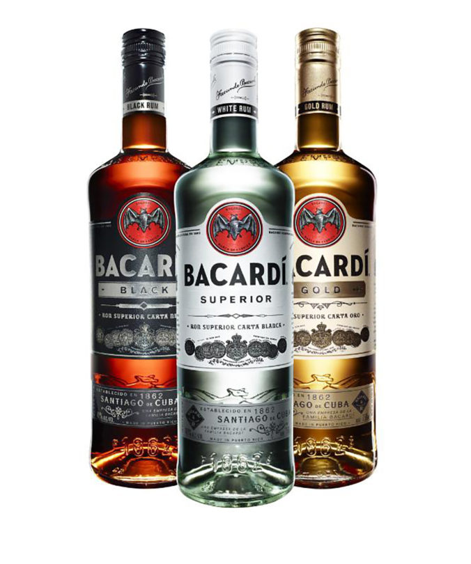 Bacardi's new art deco bottle features a bold design influenced by leading bartenders, reminescent of the company's storied past.