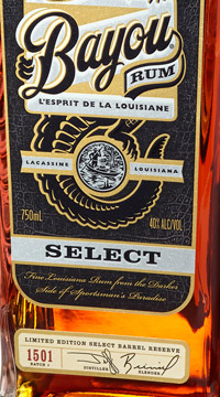 Bayou Select limited edition aged rum wins gold award in RumXP competition at Miami Rum Festival