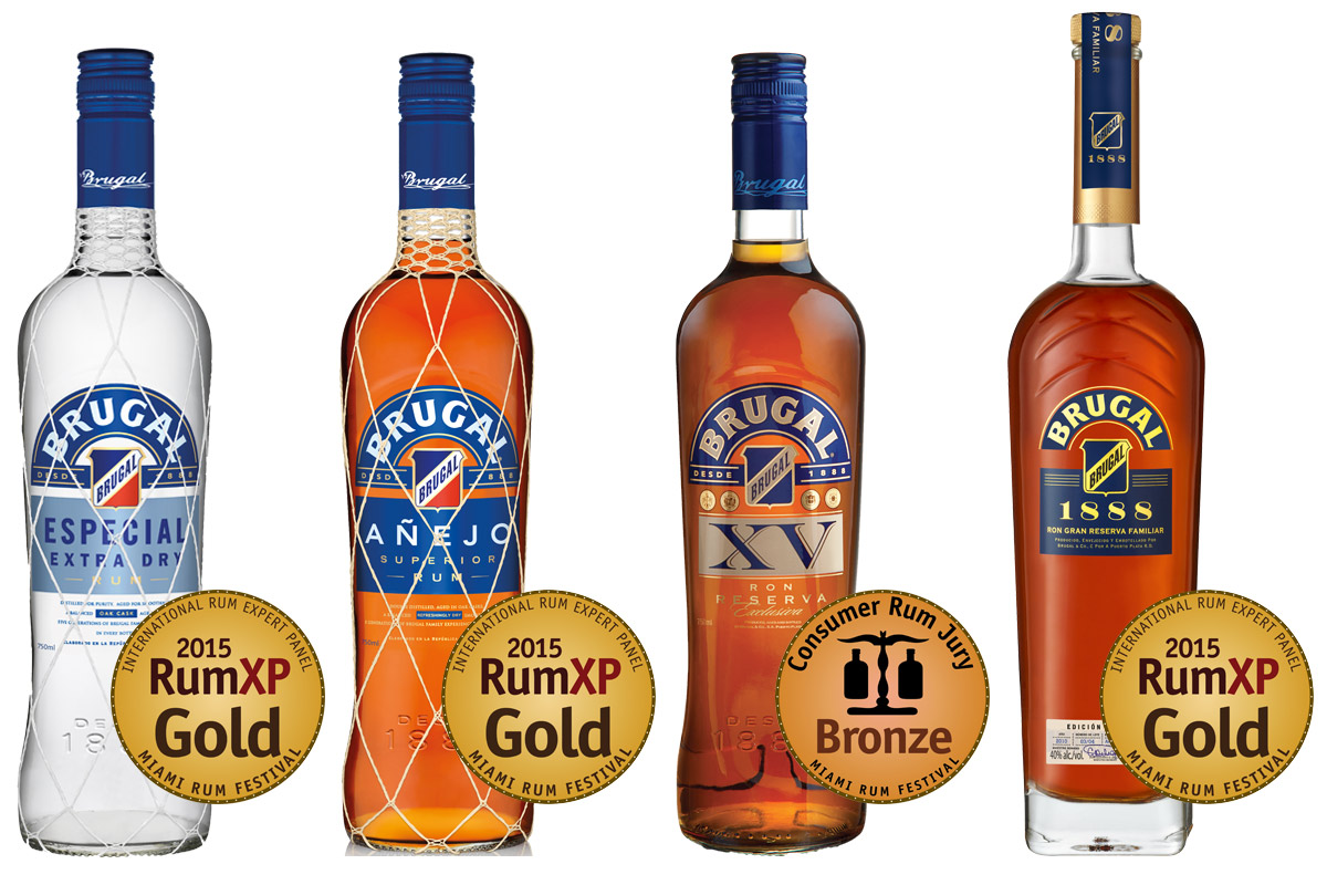 Brugal wins three Gold Medals - With three new RumXP gold medals, Brugal's fine line of rums from the Dominican Republic are gaining more respect and appreciation among professionals and consumers worldwide.