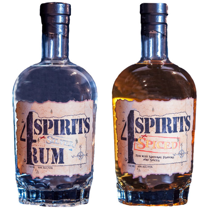 Creating craft white rum and spiced rum in Oregon, Dawson Officer's 4 Spirits Distillery seeks to honor fallen war veterans.
