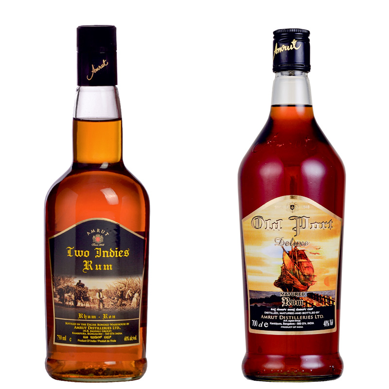 Two Indies and Old Port rums from India