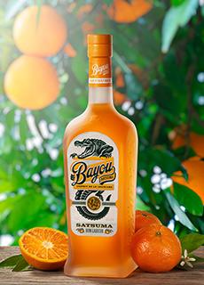 Authentic flavors of bright tangerine and smooth orange sorbet dominate Louisiana Spirits' Bayou Satsuma Rum Liqueur.