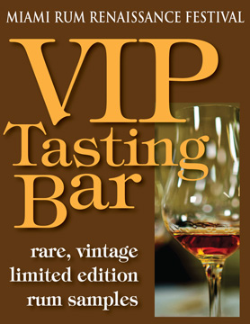 Miami Rum Renaissance, VIP Tasting Bar, rum festival, trade expo, Robert Burr