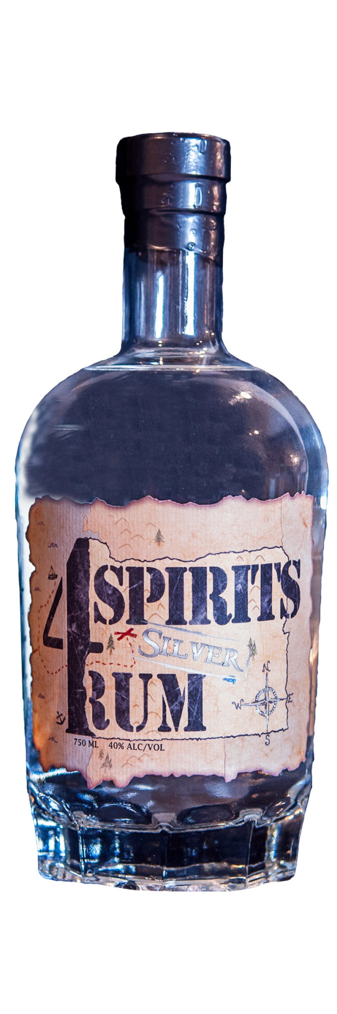 4 Spirits Silver Rum from Orgeon