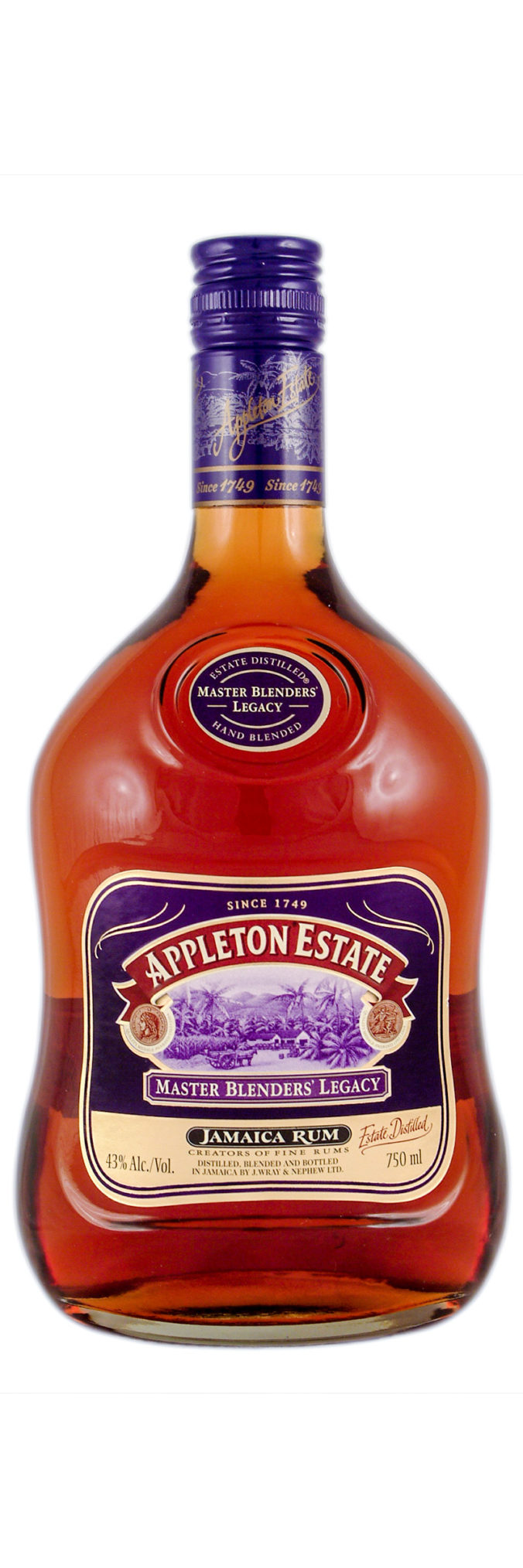Appleton Estate Master Blenders' Legacy celebrates the masterful talents of three of their three greatest rum blenders: Owen Tullock, Joy Spence and David Morrison. Bottled at 43%.