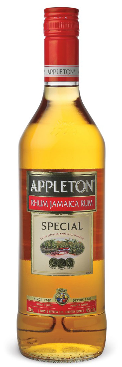 Appleton Special rum from Jamaica was designed to deliver big rum flavor and mellow wood at an affordable price. It's a blend of full-flavored traditional pot-still rums with lighter character column still rums ideal for creating cocktails with a rich rum flavor.