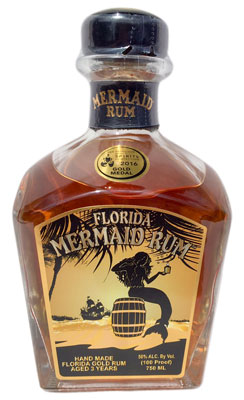 A tasteful blend of Florida and Jamaican rums brings bold flavors to Florida Mermaid rum.