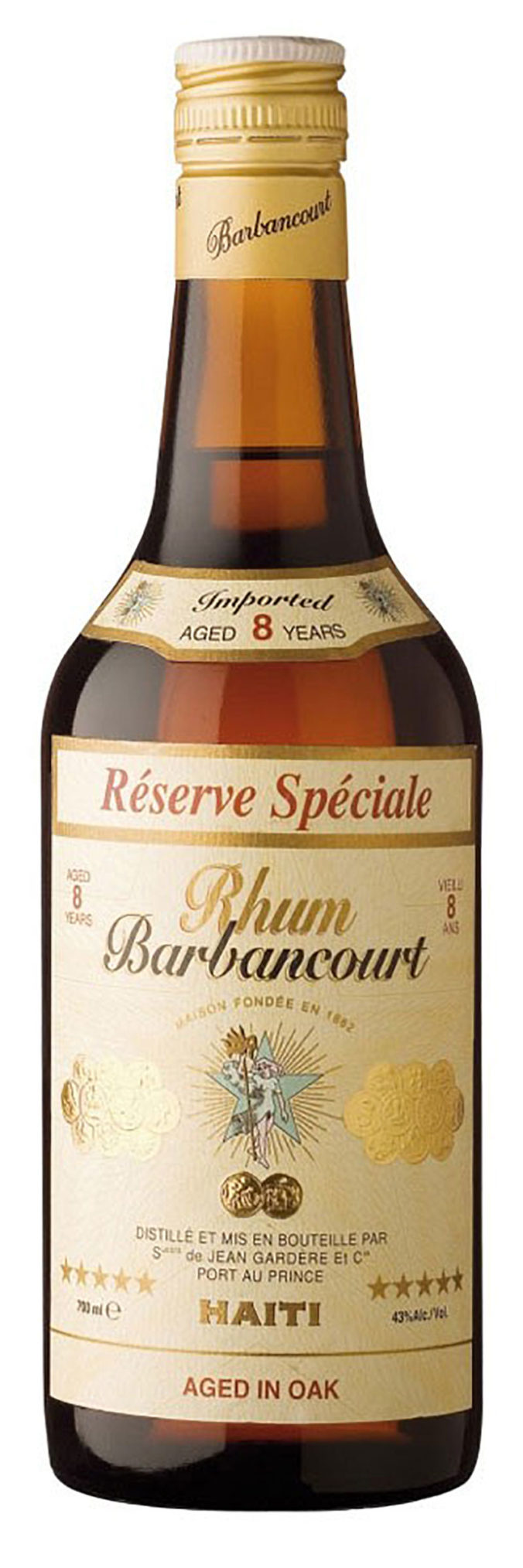 Barbancourt 5 Star eight year old aged rhum from Haiti