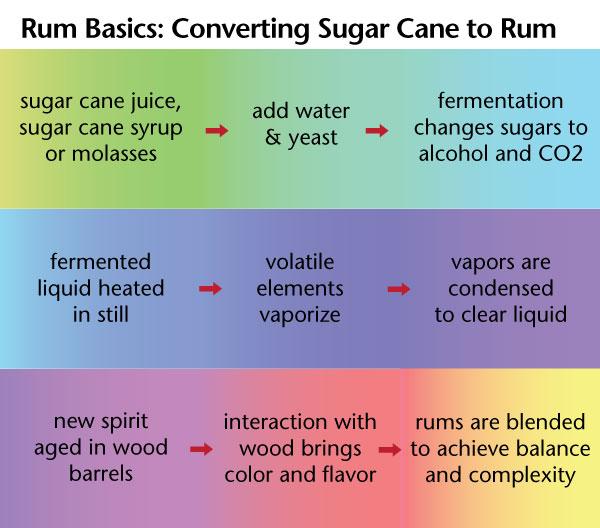 Rum 101 - Rum Basics: converting sugar cane to rum