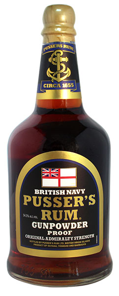 Pusser's Gunpowder Proof Original Admiralty Strength Navy Rum, bottled at 54.5%, won Best in Class in the 2016 RumXP tasting competition awards.