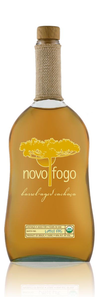 A fine aged spirit from Brazil, Novo Fogo Barrel-Aged Cachaça is bottled at 40% abv.