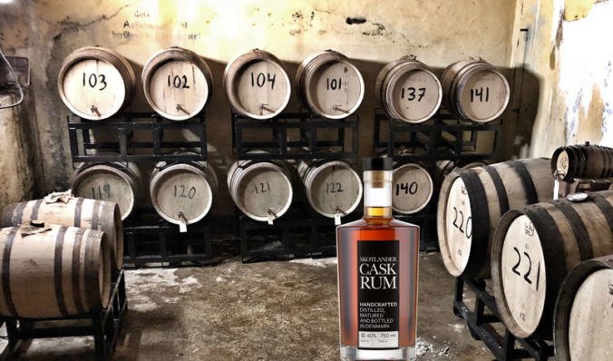 Skotlander rums aged in oak barrels in old bunker in Denmark