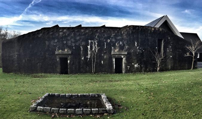 Skotlander Rum aging in barrels stored in old bunker