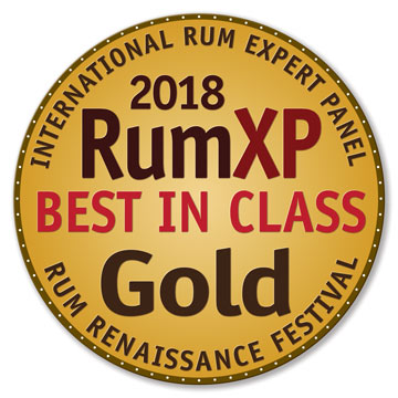 2018 RumXP Best In Class Gold Award - International Rum Expert Panel at RUm Renaissance Festival