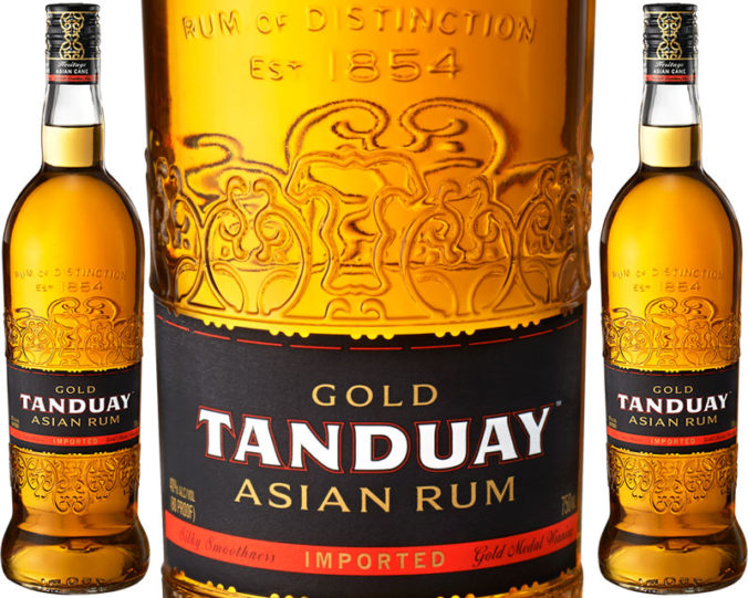 Tanduay Gold Asian Rum from The Philippines