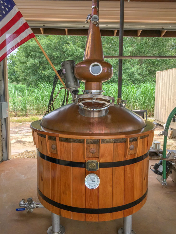 Sugar Sand Distillery Wooden Copper Pot Still
