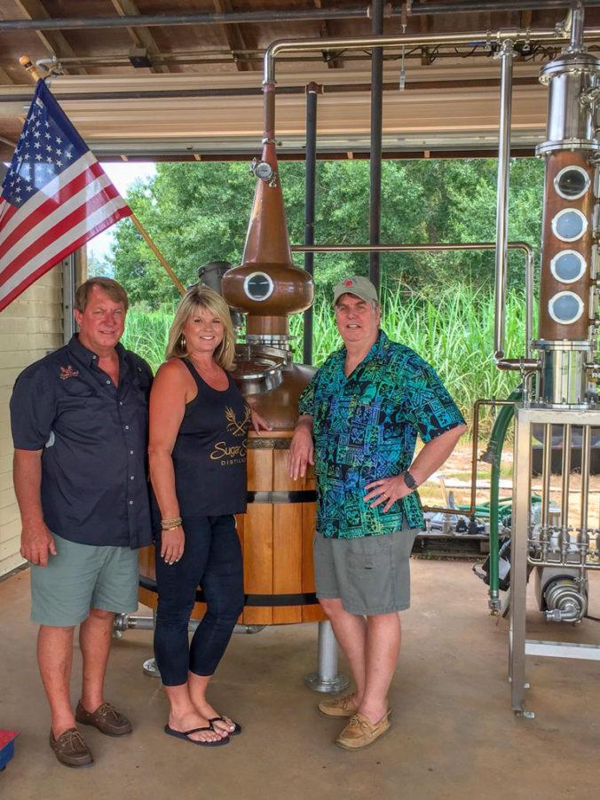 Don, Jessica and Robert at Sugar Sand Distillery