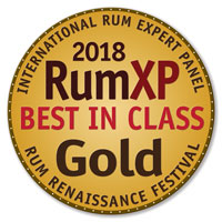 RumXP Best In Class Gold Award - the International Rum Expert Panel Tasting Competition