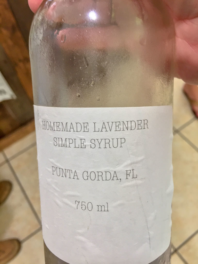 Lavender Syrup for cocktails