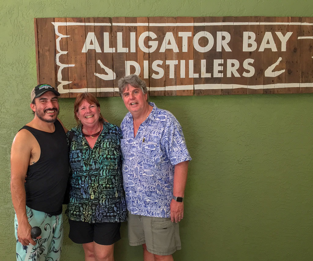 Alex Voss at Alligator Bay Distillers