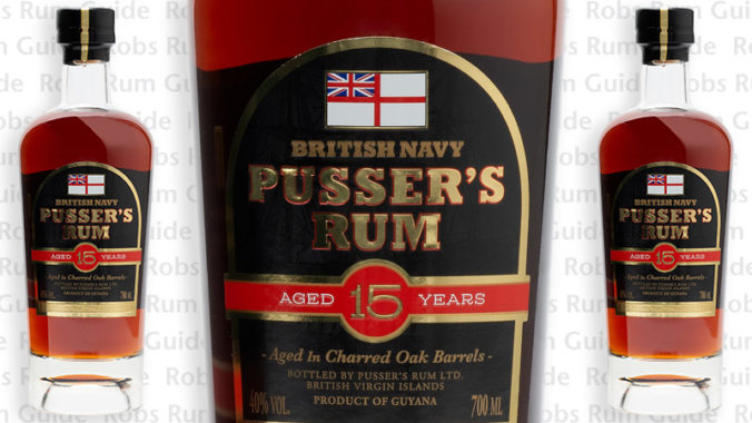 Pussers 15 Year Old limited edition luxury rum from Guyana
