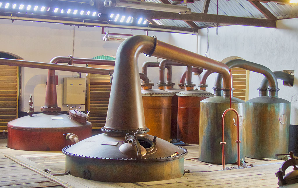 Copper Pot Stills at Mount Gay Distillery