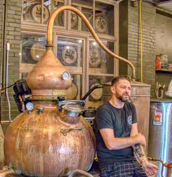 master distiller's tour at Maggie's Farm Rum Distillery