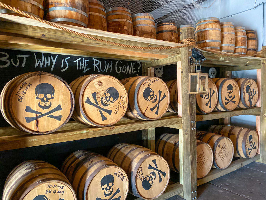barrels at Tampa Bay Rum Company