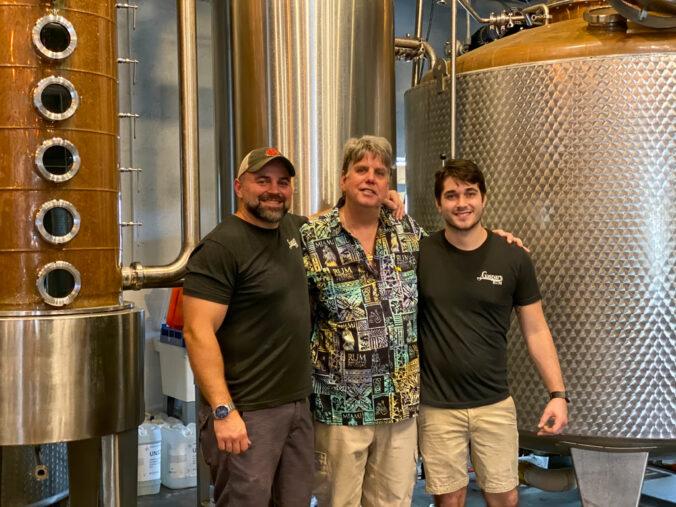 Sam, Rob and Brad at Tampa Bay Rum Company