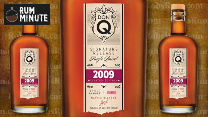 Don Q's Signature Release Single Barrel 2009