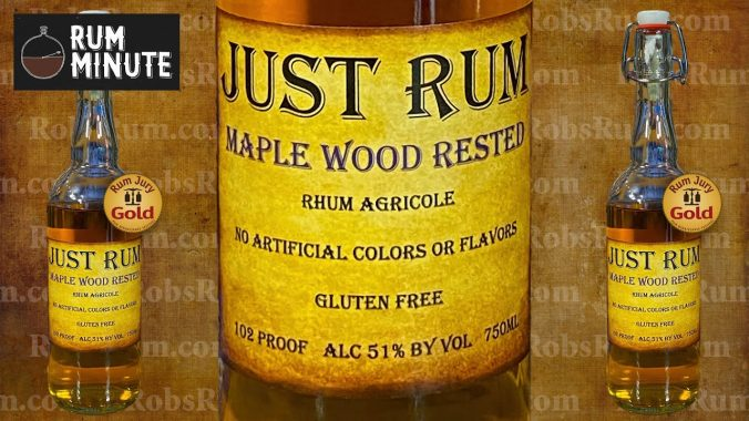 Just Rum Maple Wood Rested fresh rum from Oregon
