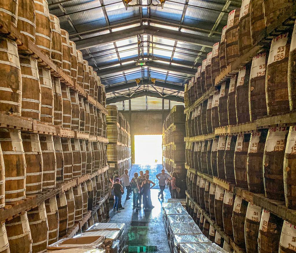 Barrel Warehouse at Rhum Saint James